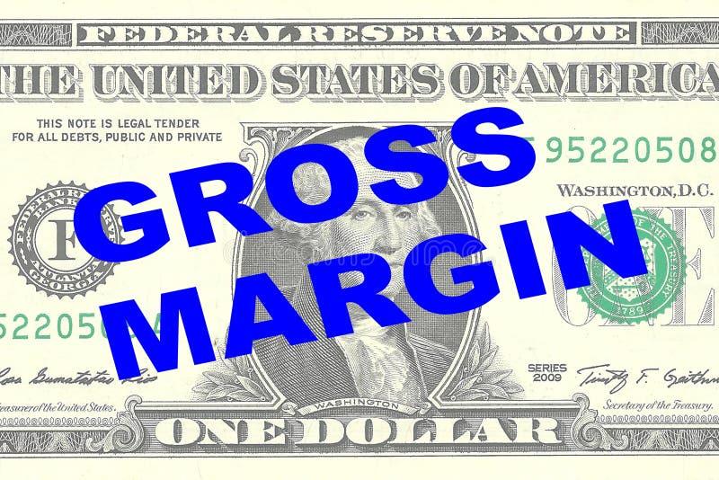 Margem bruto - conceito financeiro ilustração royalty free