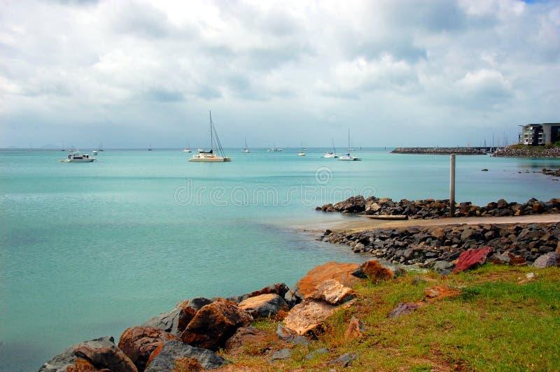 Margem da praia de Airlie, Queensland, Austrália fotografia de stock royalty free
