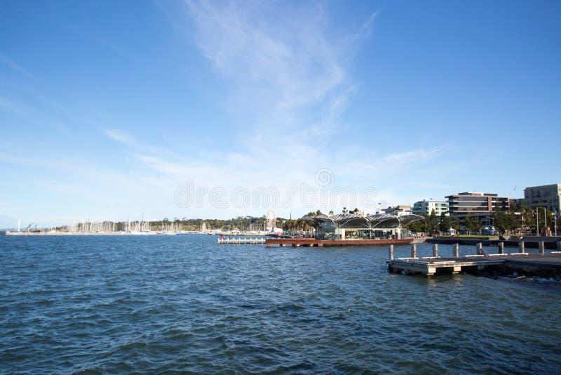Margem de Geelong no verão fotos de stock royalty free