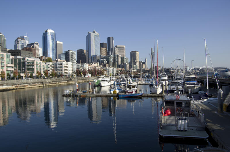 Margem de Seattle fotos de stock royalty free