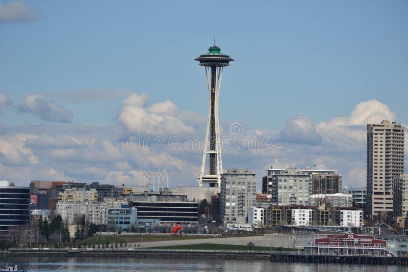 Margem e skyline, Seattle, Washington fotos de stock royalty free