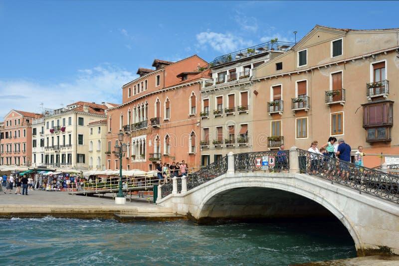 Margem Riva Schiavoni em San Marco de Veneza - Itália imagens de stock royalty free