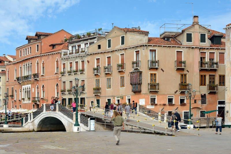 Margem Riva Schiavoni em San Marco de Veneza - Itália fotografia de stock royalty free