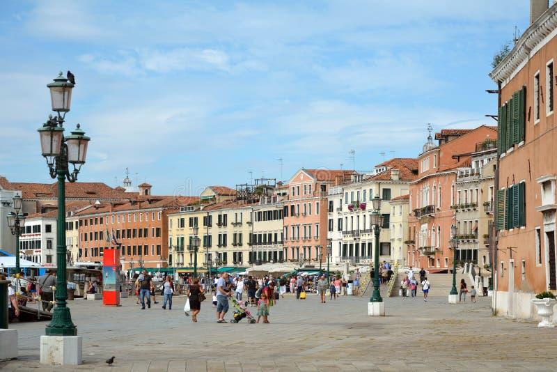 Margem Riva Schiavoni em San Marco de Veneza - Itália imagem de stock royalty free