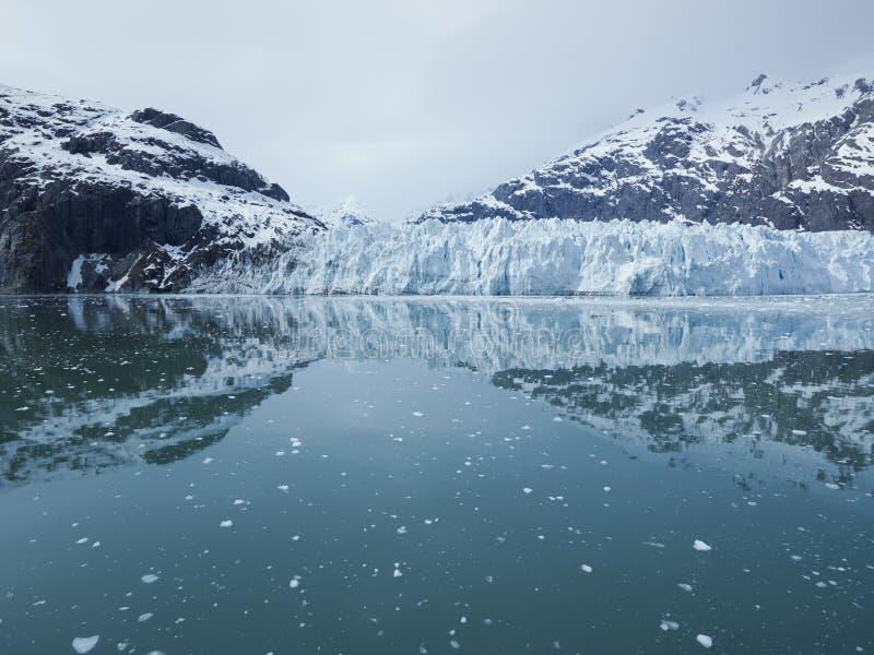 Margerie冰川的全景在冰河海湾国家公园 免版税库存照片