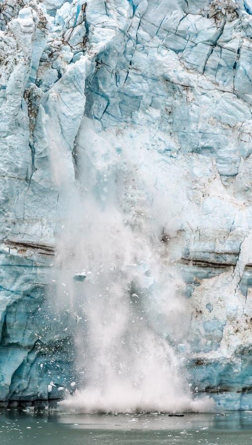 Margerie Glacier Ice kollaps Alaska fotografering för bildbyråer