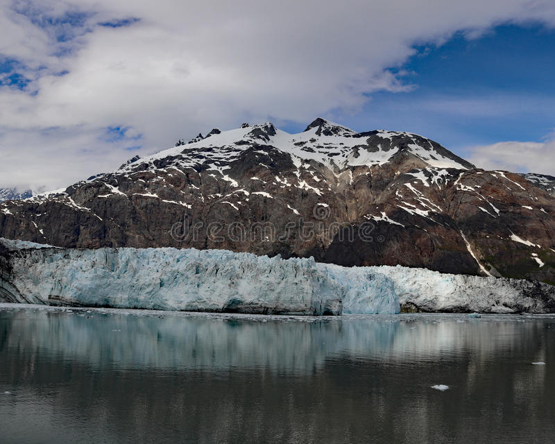 Margerie glacier with Mount Root stock photos