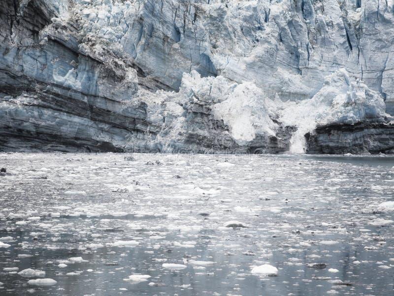 Margerie Glacier på nationalparken för glaciärfjärd, Alaska arkivfoton