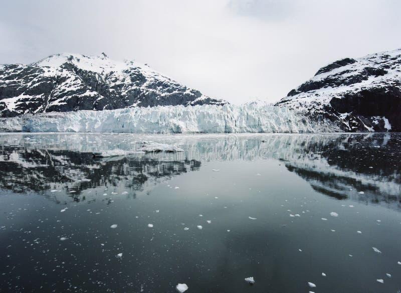 Margerie Glacier på nationalparken för glaciärfjärd, Alaska royaltyfria bilder