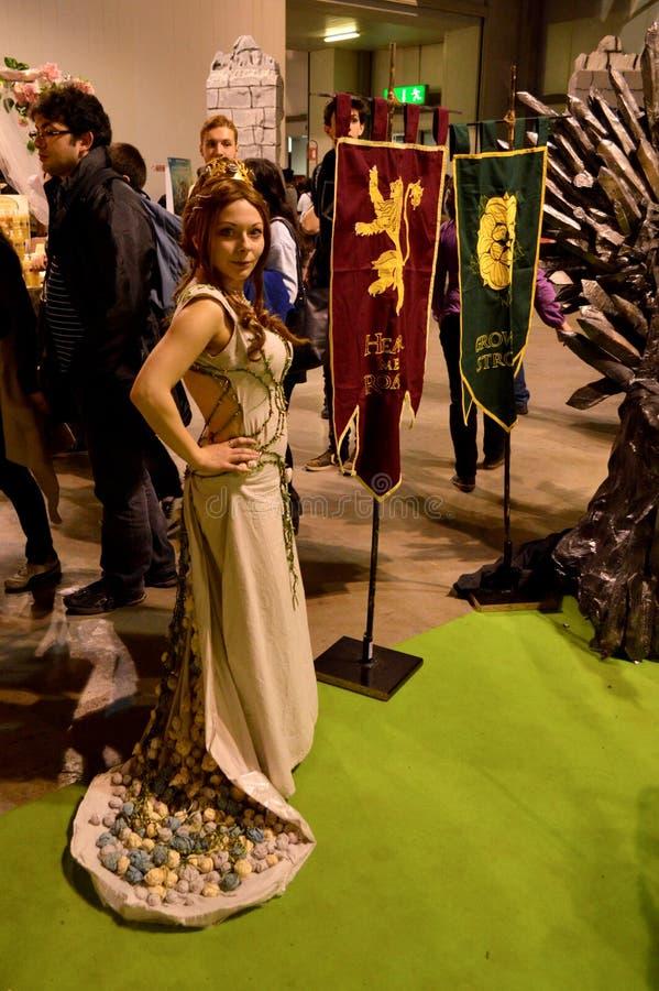 Margery Tyrell at Cartoomics 2015 royalty free stock photography