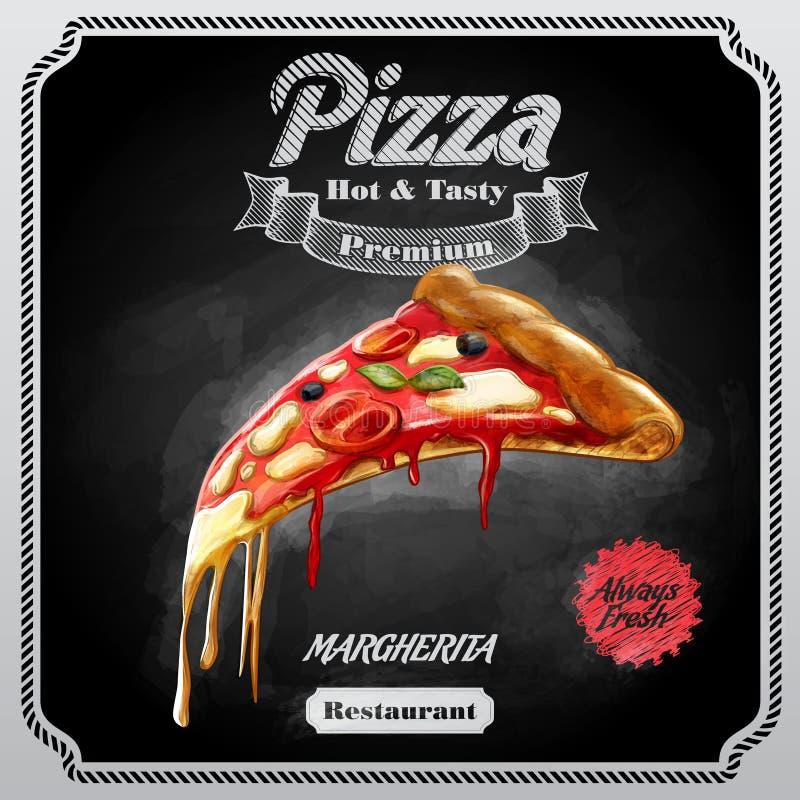 Margherita de la pizza del menú fotografía de archivo libre de regalías