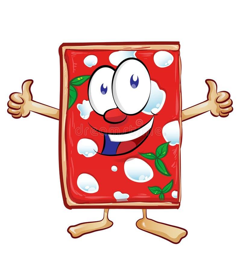 Margherita della pizza affettato fumetto illustrazione vettoriale