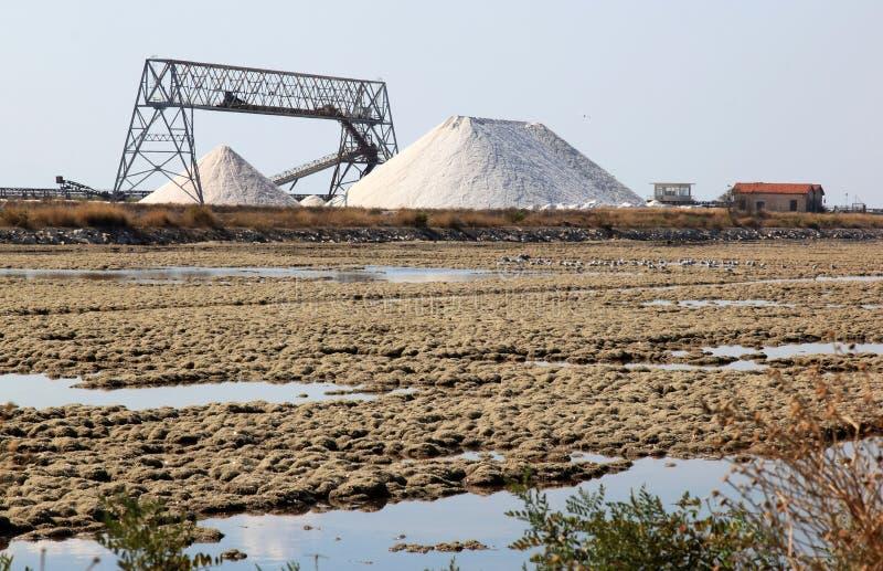 Margherita Di Savoia Saltworks, Ιταλία στοκ φωτογραφία με δικαίωμα ελεύθερης χρήσης