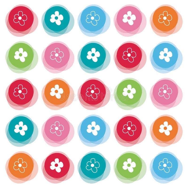 Margherita sui puntini di colore della sfuocatura royalty illustrazione gratis