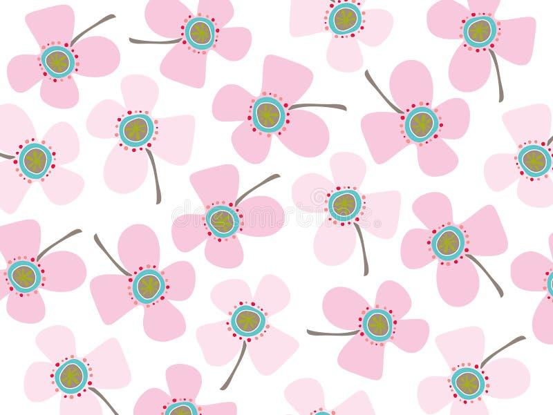 Margherite di colore rosa di bambino illustrazione vettoriale