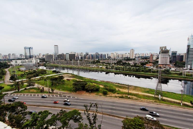 Marginale Pinheiros Sao Paulo Brazilië royalty-vrije stock foto's