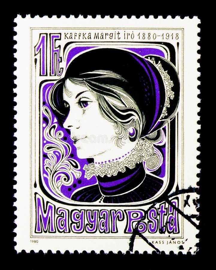 Margit Kaffka, pisarz, osobowości seria około 1980, fotografia royalty free