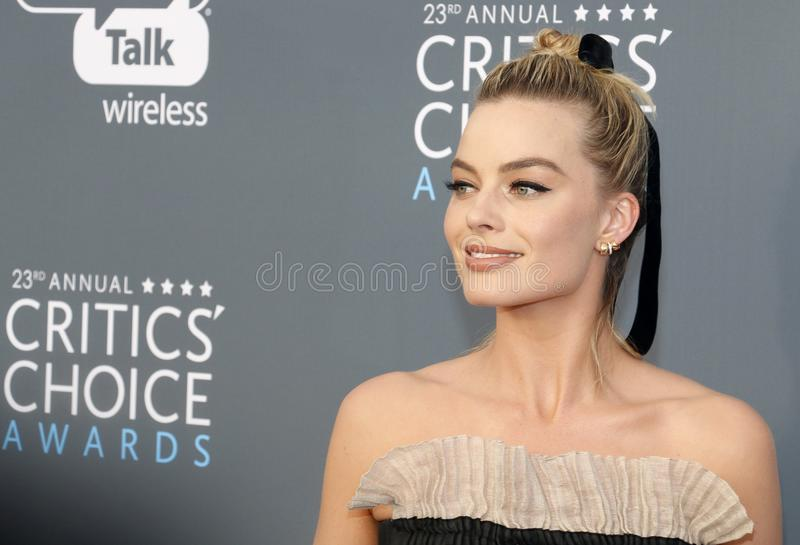 margot robbie fotografia stock