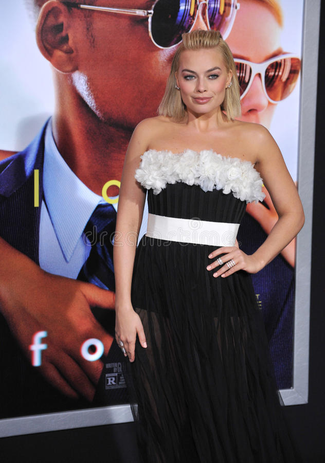 Margot Robbie. LOS ANGELES, CA - FEBRUARY 24, 2015: Margot Robbie at the Los Angeles premiere of her movie Focus at the TCL Chinese Theatre, Hollywood royalty free stock photo