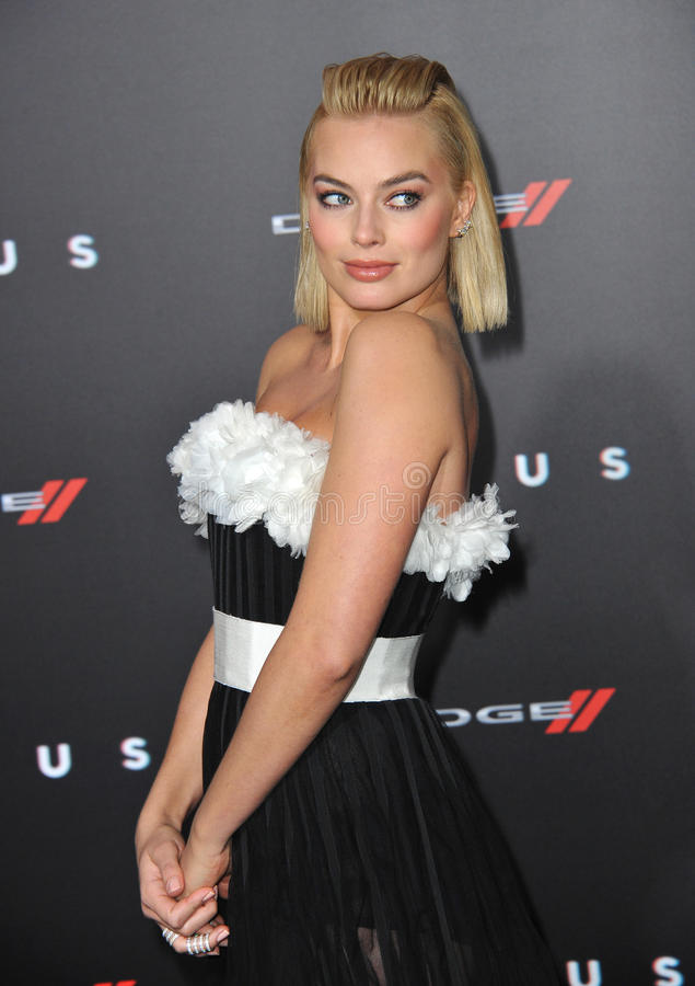 Margot Robbie. LOS ANGELES, CA - FEBRUARY 24, 2015: Margot Robbie at the Los Angeles premiere of her movie Focus at the TCL Chinese Theatre, Hollywood stock photo