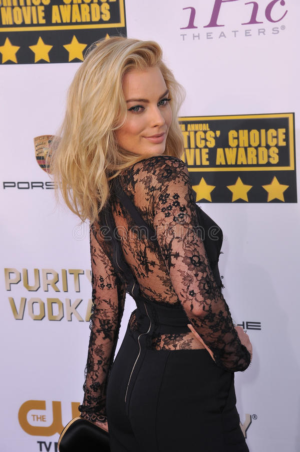 Margot Robbie. LOS ANGELES, CA - JANUARY 16, 2014: Margot Robbie at the 19th Annual Critics' Choice Awards at The Barker Hangar, Santa Monica Airport stock photo