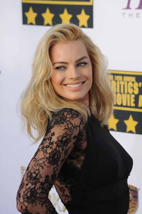 Margot Robbie. LOS ANGELES, CA - JANUARY 16, 2014: Margot Robbie at the 19th Annual Critics' Choice Awards at The Barker Hangar, Santa Monica Airport stock photography