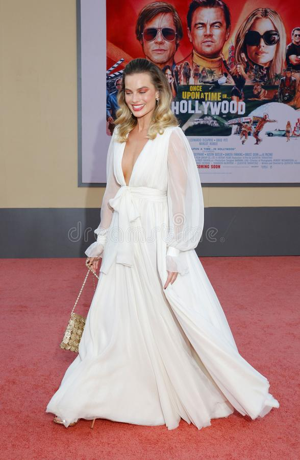 Margot Robbie. At the Los Angeles premiere of `Once Upon a Time In Hollywood` held at the TCL Chinese Theatre IMAX in Hollywood, USA on July 22, 2019 royalty free stock photo