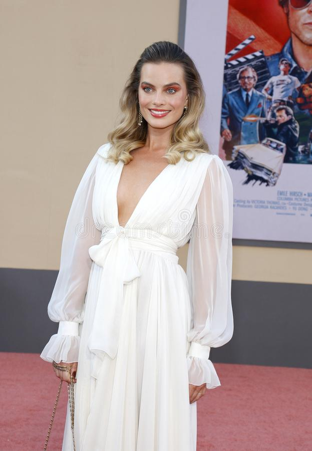 Margot Robbie. At the Los Angeles premiere of `Once Upon a Time In Hollywood` held at the TCL Chinese Theatre IMAX in Hollywood, USA on July 22, 2019 stock photos