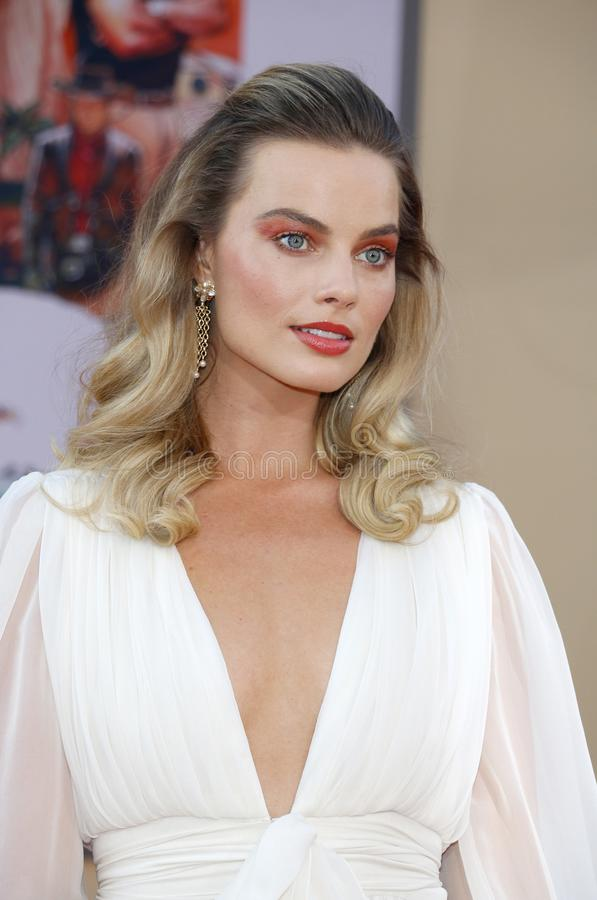 Margot Robbie. At the Los Angeles premiere of `Once Upon a Time In Hollywood` held at the TCL Chinese Theatre IMAX in Hollywood, USA on July 22, 2019 stock image