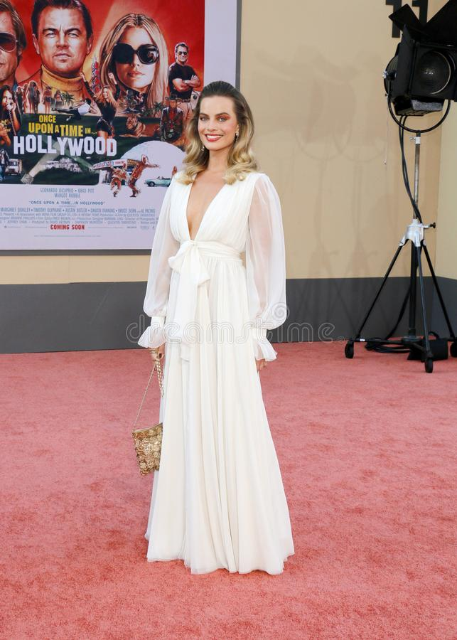 Margot Robbie. At the Los Angeles premiere of `Once Upon a Time In Hollywood` held at the TCL Chinese Theatre IMAX in Hollywood, USA on July 22, 2019 stock photo