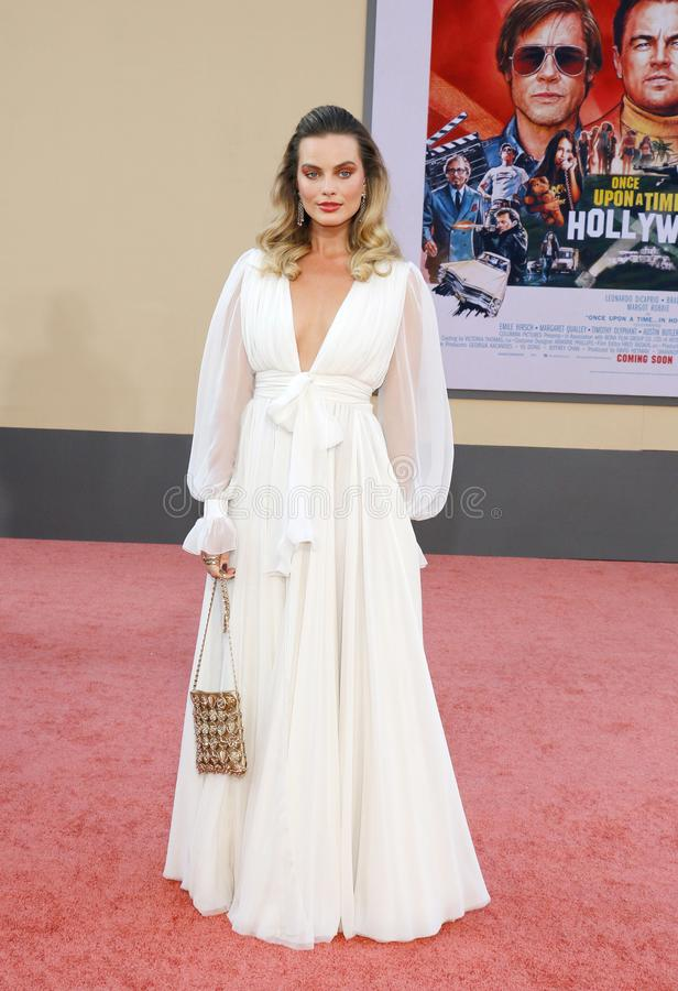 Margot Robbie. At the Los Angeles premiere of `Once Upon a Time In Hollywood` held at the TCL Chinese Theatre IMAX in Hollywood, USA on July 22, 2019 royalty free stock images