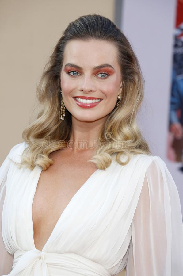 Margot Robbie. At the Los Angeles premiere of `Once Upon a Time In Hollywood` held at the TCL Chinese Theatre IMAX in Hollywood, USA on July 22, 2019 royalty free stock image