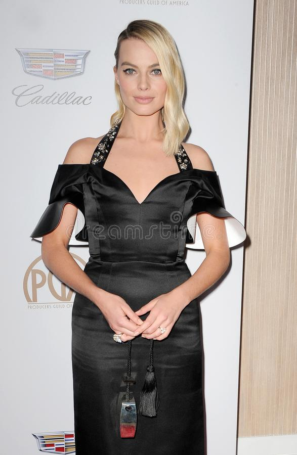 Margot Robbie. At the 29th Annual Producers Guild Awards held at the Beverly Hilton Hotel in Beverly Hills, USA on January 20, 2018 royalty free stock image