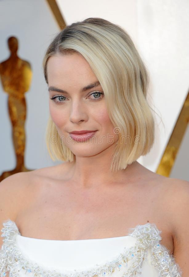 Margot Robbie. At the 90th Annual Academy Awards held at the Dolby Theatre in Hollywood, USA on March 4, 2018 stock photo