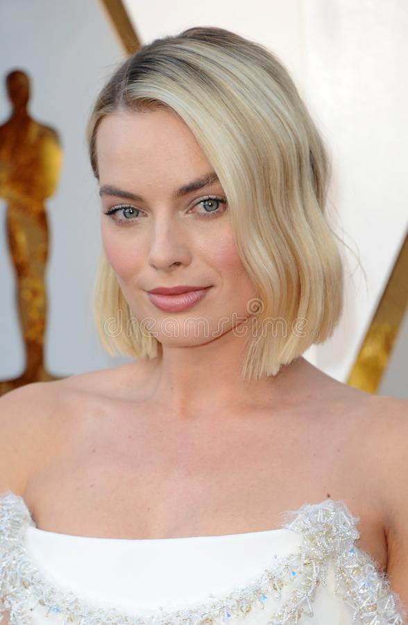 Margot Robbie. At the 90th Annual Academy Awards held at the Dolby Theatre in Hollywood, USA on March 4, 2018 stock image