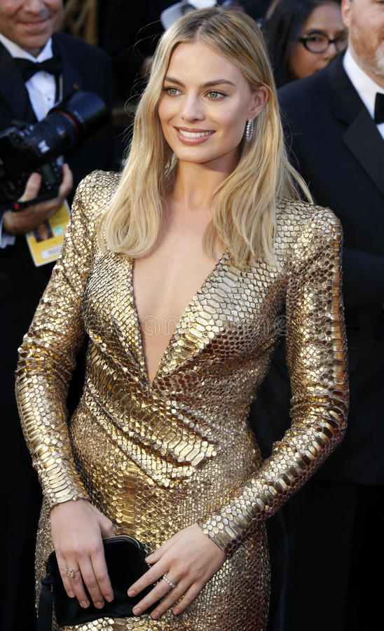 Margot Robbie. At the 88th Annual Academy Awards held at the Hollywood stock image