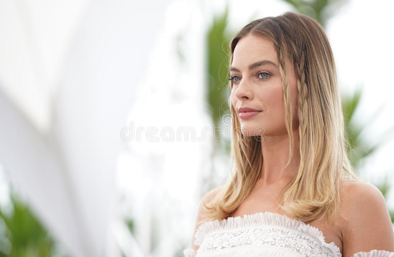Margot Robbie uczęszcza photocall f obrazy royalty free