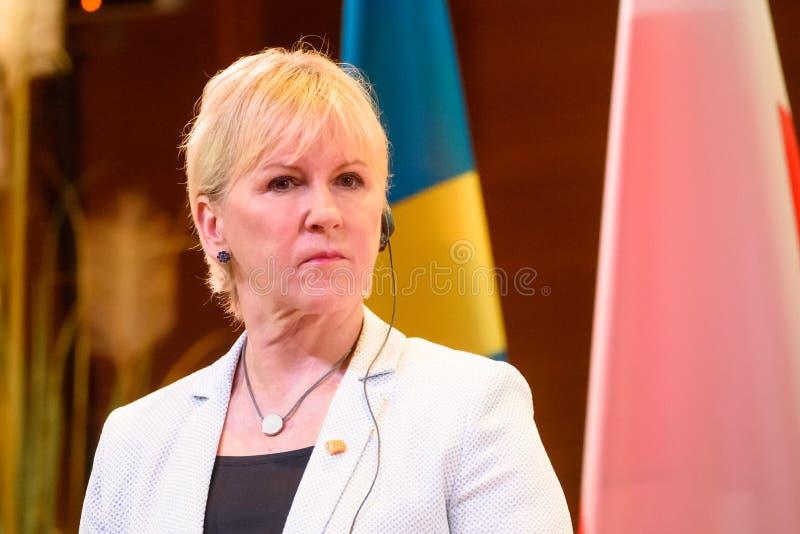 Margot Wallstrom, ministro de asuntos exteriores de Suecia imagen de archivo
