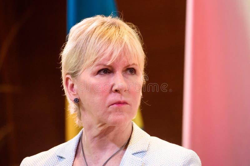 Margot Wallstrom, ministro degli affari esteri della Svezia immagine stock libera da diritti