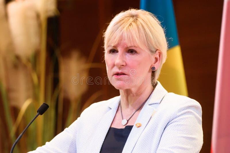 Margot Wallstrom, ministro degli affari esteri della Svezia fotografie stock