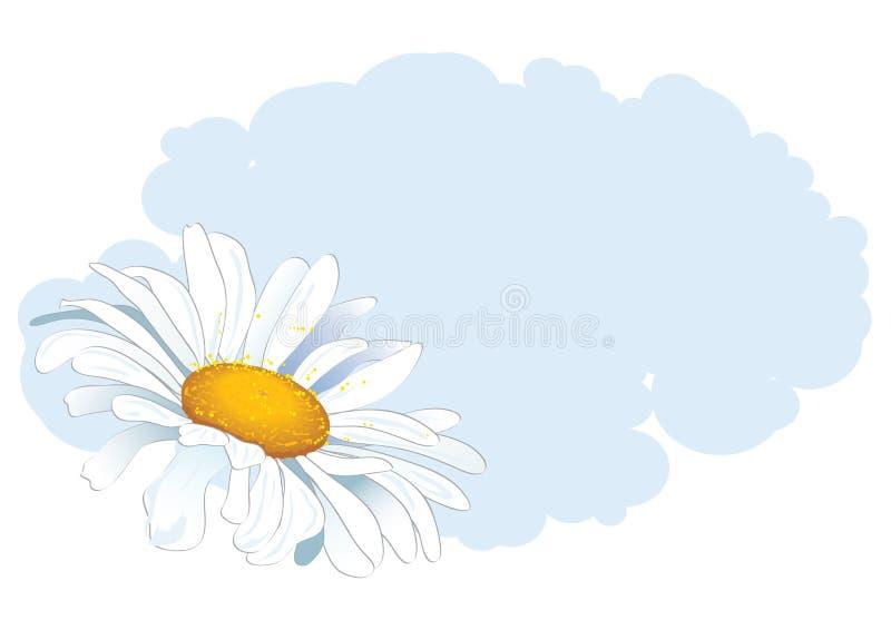 Marguerite et nuage illustration stock