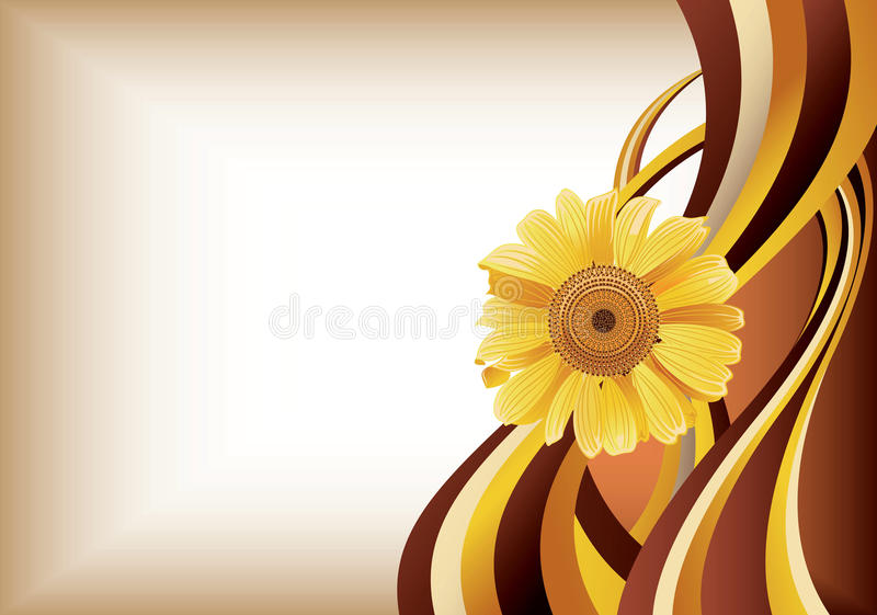 Marguerite jaune illustration stock