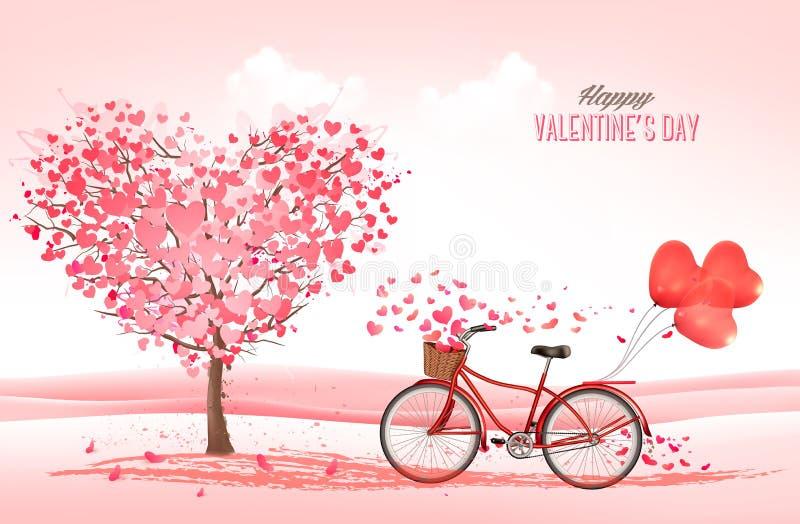 Marguerites du fond deux de jour du ` s de Valentine illustration stock