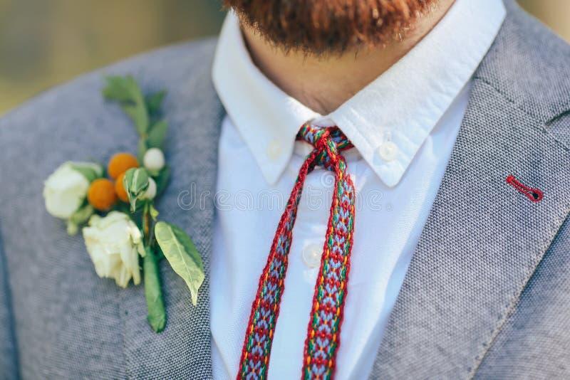 Marié avec la barbe Homme avec la longue barbe images stock