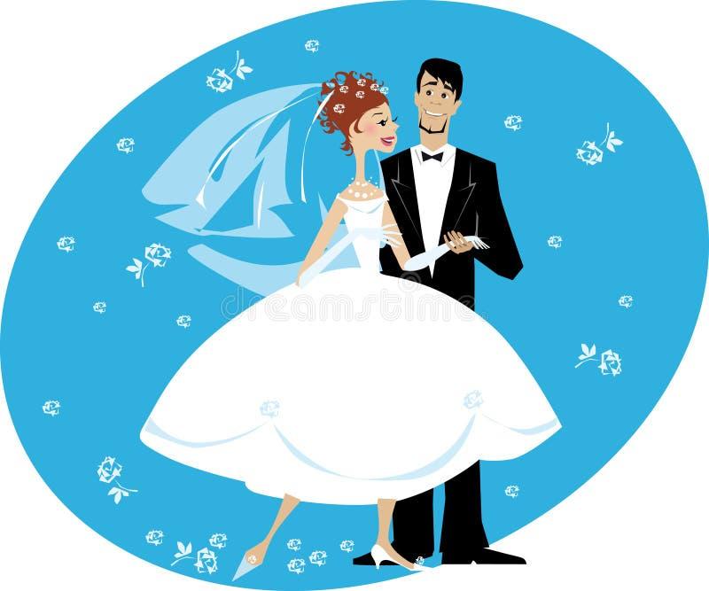 marié de mariée illustration libre de droits