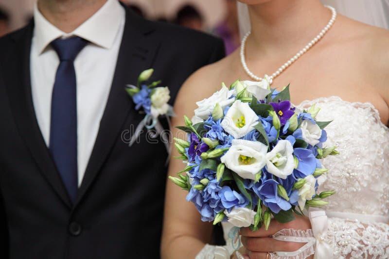 Marié et jeune mariée images stock