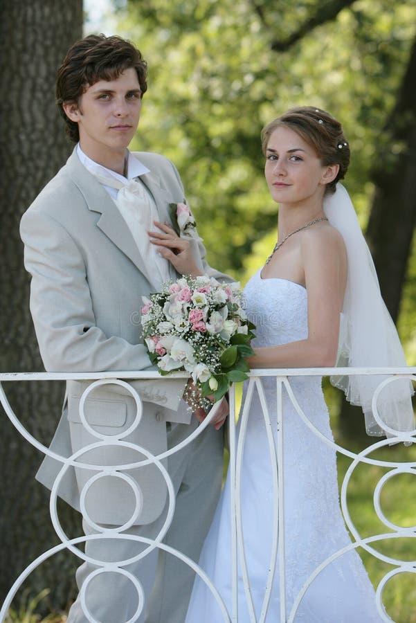 Marié et mariée photographie stock libre de droits