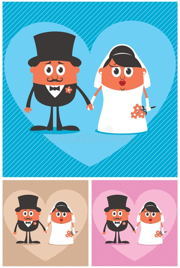 Marié et mariée illustration stock