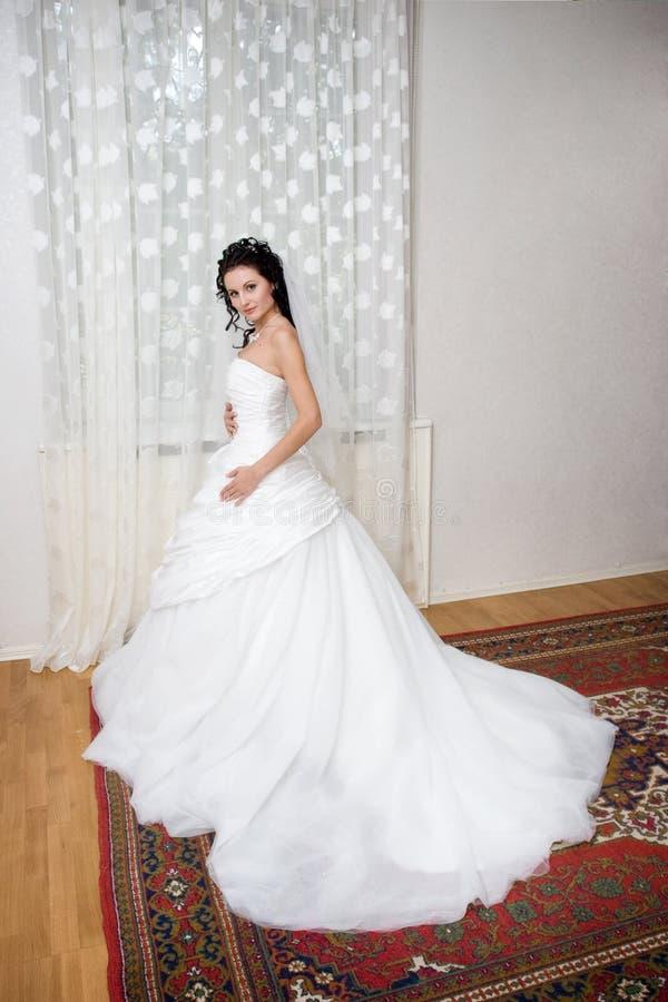 Mariée à la maison photographie stock libre de droits