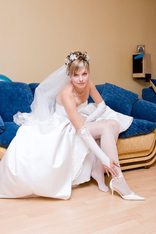 Mariée à la maison photos stock